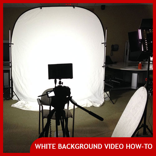 how to shoot infinite white video screen