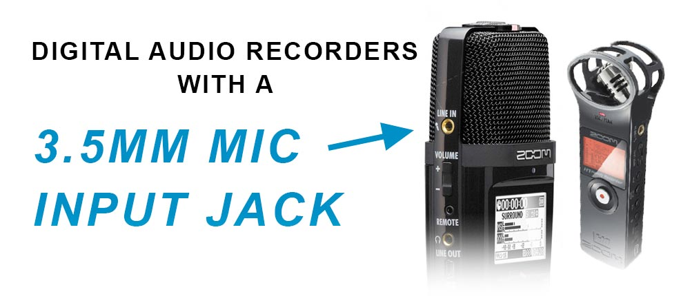 Digital audio recorders with xlr inputs