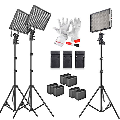 lighting set. If You\u0027re Interested In An Interview Lighting Kit That\u0027s Battery Powered, So You Can Set Up Interviews Outdoors, Consider This LED Kit. T