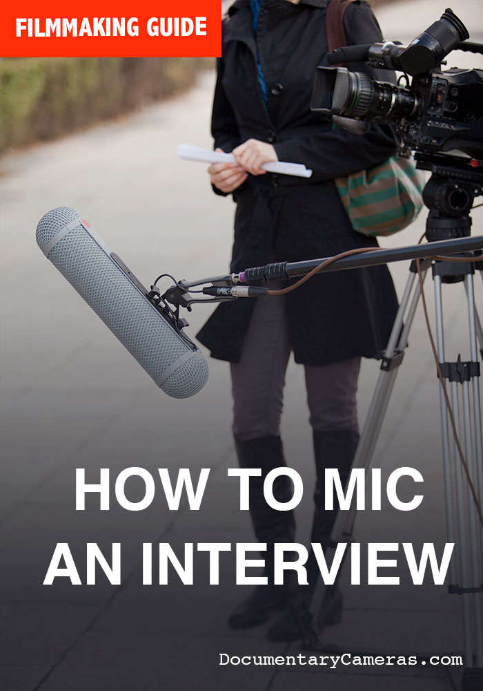 How to Mic a Documentary Style Sit Down Interview