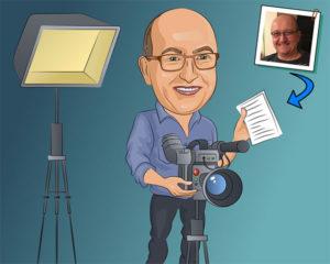 Custom Filmmaker Portrait Gift