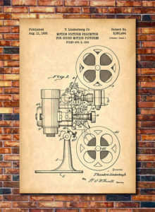 Film Projector Patent Print Art Gifts for Documentary Filmmakers