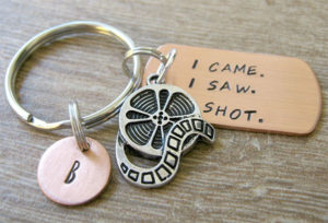 I Came. I Saw. I Shot. Keychain Gifts for Documentary Filmmakers