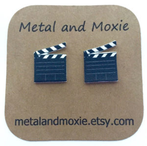 Movie Clapperboard Earrings Gifts for Documentary Filmmakers