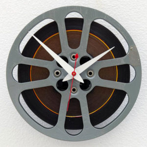 Recycled Film Reel Wall Clock - Gifts for Documentary Filmmakers