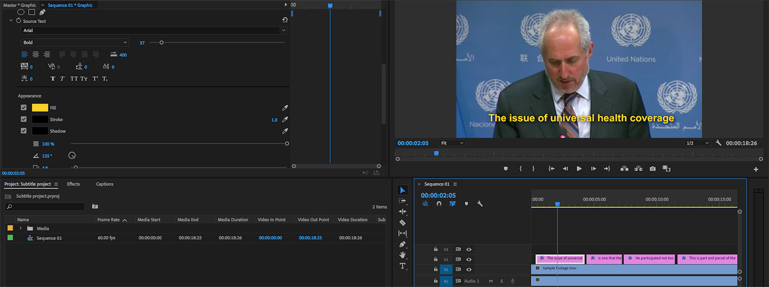 How to Easily Add Subtitles/Closed Captions to Video Using Adobe