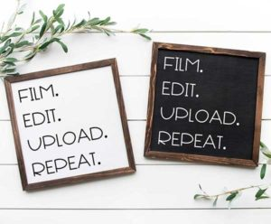 Film. Edit. Upload. Repeat. Sign