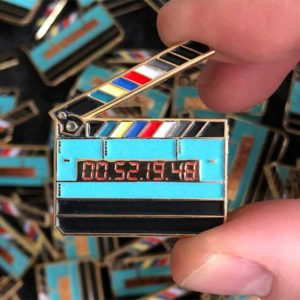 Movie Clapper Enamel Pin