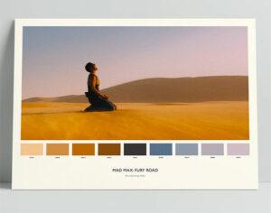 Movie Color Palette Poster gift for Aspiring Filmmakers